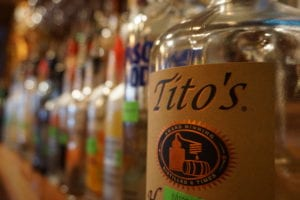 Tito's vodka and bar